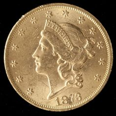 1873 Liberty Double Eagle $20 Gold Coin Sold $1,700