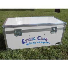 Erase Case Large ATA College Footlocker White with Recessed Wheels and Tray | FREE SHIPPING