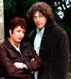 The way they were: With Caroline Quentin during the first Jonathan Creek series...