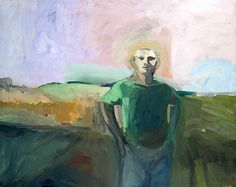 Elmer Nelson Bischoff (1916-1991) Man and Lavender Sky