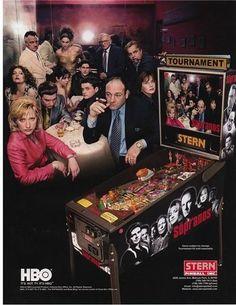 Stern Sopranos 2005, never seen the pinball machine