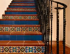 Spanish tile stairs with a twist
