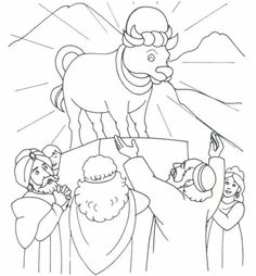Baby Moses Coloring Pages New the Golden Calf Exodus 32 Sunday School Projects, Sunday School Activities, Sunday School Lessons, Preschool Bible, Bible Activities, Bible Coloring Pages, Coloring Books, Golden Calf, Valentines Day Coloring Page