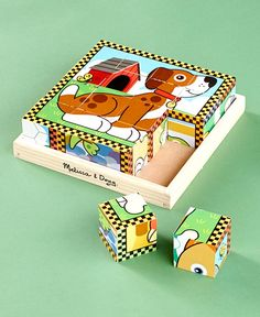 Melissa & Doug® 6-in-1 Wooden Cube Puzzles|LTD Commodities