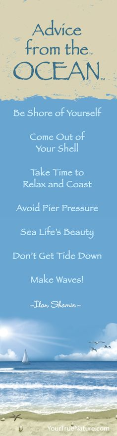 """You'd be surprised how much you can learn from nature! Get an """"Advice from the Ocean"""" Bookmark today for only $2.75!"""