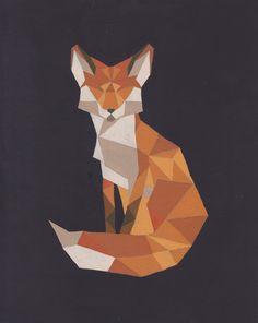 Geometric Fox Art Print by Rosalie Wyonch | Society6