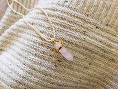 Collier de perles RAS DE COU et Quartz rose par FolleDeJoie sur Etsy