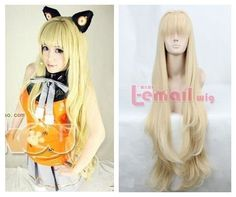 90cm Long Blonde Tenko_kuugen Straight Cosplay Wig Rw130 by yi wu zi ping wigs Co.LTD. $32.38. 90cm long blonde tenko_kuugen straight Cosplay wig RW130. LENGTH :90cm/31.49inch Color:Blonde EST. SHIPPING WT. : 443g Material : Synthetic High Temp Fiber Cap Construction: Capless Cap Size: Average