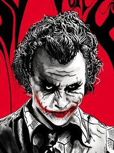 JOKER painting by raj khatri, via Behance Joker Iphone Wallpaper, Joker Wallpapers, Joker Pics, Joker Art, Joker Ledger, Heath Ledger, Joker Drawings, Pencil Drawings, Dark Knight Wallpaper