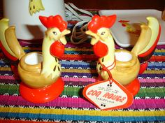 Holt Howard vintage Coq Rouge Rooster dishes 6 pieces