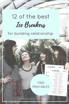 "12 Ice Breakers For Building Relationship. Some non-religious variations on these activities: ""Happies and Crappies"" (in lieu of ""Good, Bad, and God"") - members share one good thing and/or one bad thing; ""Meditations"" (in lieu of ""Devotions"") - members share a quote they have been reflecting on."