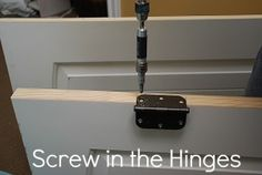 screw in the hinges