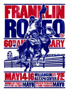 Old Rodeo Photos | Franklin Rodeo Poster