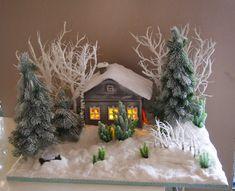 All Things Christmas, Christmas Wreaths, Christmas Crafts, Christmas Decorations, Xmas, Christmas Tree, Holiday Decor, Putz Houses, Fairy Garden Houses