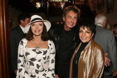 Joan Collins, Barry Manilow and Liza Minnelli.