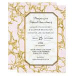 Rehearsal Dinner Marbled Marble Paper Rose Gold Card