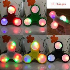 LED Light Styles Hand Finger Spinner - Focus Anxiety Stress Gift Toys