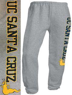 Grey UC SANTA CRUZ With Slug Sweatpants
