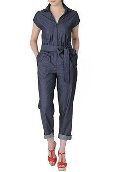 I <3 this Chambray denim jumpsuit from eShakti