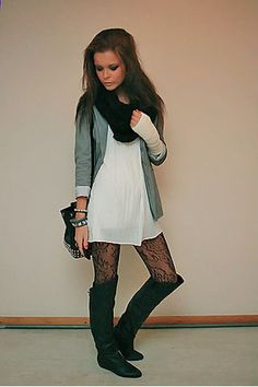 scarf, bag, and boots to match!