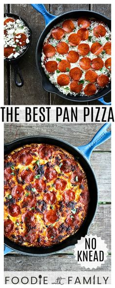 This simple tutorial on The Best Pan Pizza gives you the why and how of great pan pizzas: what kind of pan to use and the best recipe for the job! pizza recipe The Best Pan Pizza: How, why, and the recipe! Best Pizza Dough, Good Pizza, Pizza Hut, Mushroom Pizza Recipes, White Pizza Recipes, Recipes Dinner, Dinner Ideas, Italian Dishes, Italian Recipes
