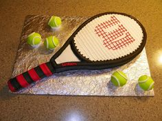 For the tennis freak...this was a groom's cake my daughter made. #cake #tennis #groom's cake