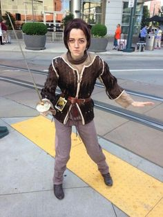 Arya will stick you with the pointy end! |  arya stark cosplay | #arya #stark game of thrones