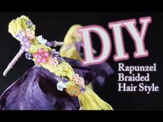 DIY Rapunzel's Braided Hair How To Make Rapunzels Hair For A Fairy Doll - YouTube
