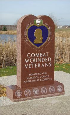 Purple Heart Monument for Muskegon, MI