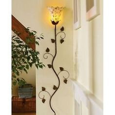 Wall-Scone-Lamp-Mounted-Light-Room-Metal-Vintage-Accent-Home-Decor-Antique-Vine