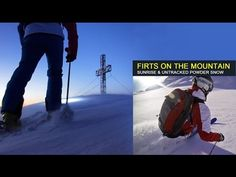 Our new project: Powder skiing at sunrise in Austria, Gastein - first freeride tracks - YouTube