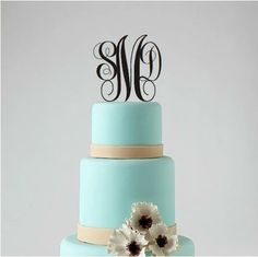 Monogram Wedding Cake Topper  Personalized by CorkCountryCottage, $21.00
