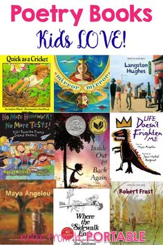 Love this list of poetry books. Kids loved them and I can't keep them on the shelf!