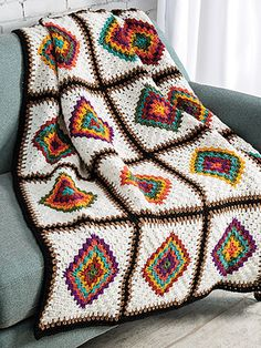 This project is featured in February 2019 Crochet World magazine. - This project is featured in February 2019 Crochet World magazine. This project is featured in February 2019 Crochet World magazine. Granny Square Blanket, Granny Square Crochet Pattern, Crochet Squares, Granny Granny, Crochet Granny, Granny Squares, Square Patterns, Afghan Crochet Patterns, Knitting Patterns
