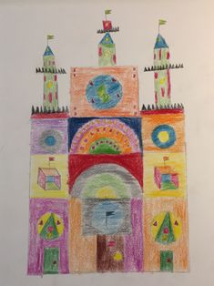 Castle: This is a picture where i only used geometric figures.