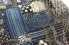 Indigo with white stitches - could I do this amount of stitching on a  single piece of ticking? Should the ticking then be dyed?