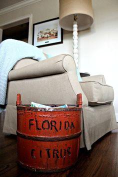 Beach Bungalow Home Tour- Old Florida Cracker homestyle and lifestyle.  Vintage Florida, Florida Citrus, Scott's Antique Market