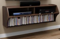 Home Theater Struggles? Check Out Prepac's Wall Mounted Console... #uhome