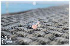 Rose quartz stacking ring set. by EffiesElements on Etsy