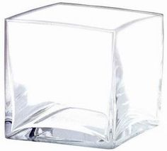 """5"""" Square Glass Cube Vase, Discount Miniature Vases - Wholesale Flowers and Supplies"""