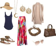 Cute Outfit Ideas for Spring: What to wear with a Maxi Skirt. Click to see more ideas on the blog.