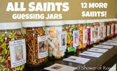 Shower of Roses: 12 More Saint Themed Guessing Jars