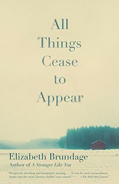 All Things Cease to Appear is one of our recommended books to read in 2017. A book to read next for fans of domestic thrillers with mystery and suspense.