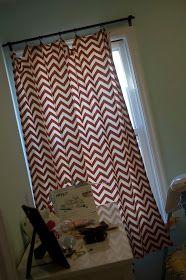 The Organized McTatty: Easy-Sew Curtain Tutorial