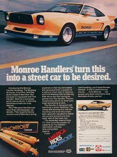 Yellow 1978 Ford Mustang II Monroe Handler Hatchback - MustangAttitude.com Mobile