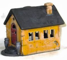 Greek Island House: 'Raku' houses by Hanne Say Helms (****See other side view on separate Pin.)