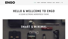 Engo Minimal WordPress theme: See it here: http://www.webdesignerhub.com/new-wordpress-themes-for-creative-agencies-portfolios/