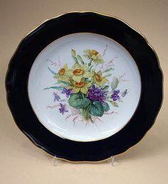 Meissen decorative plate with dafodils***