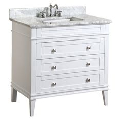 Eleanor 36-inch Vanity (Carrara/White) – KitchenBathCollection