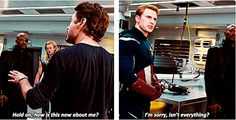 Steve apparently has reservoirs of unused 1940s snark.<--- that. <<< never underestimate the sass of Captain Steven Rogers